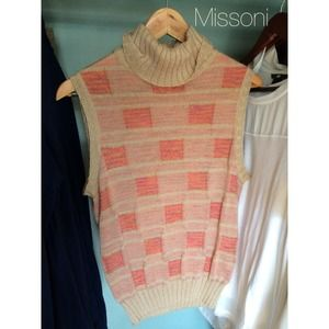 🌟Missoni Metallic Plaid Sweater Vest🌟