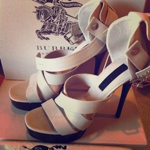 NEW Burberry Platform Heels-perfect for early fall