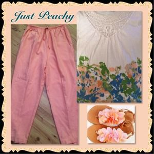 PRETTY PEACH LINED PANTS