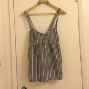 Denim baby doll tank w/ pockets
