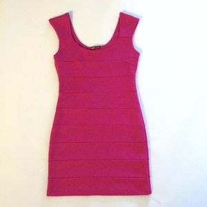 Hot Pink BodyCon Bandage Dress