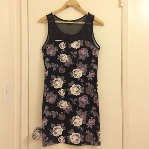 Floral dress w/ mesh top.