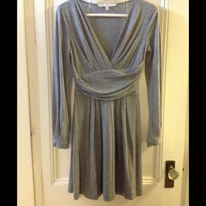 DVF heather grey dress