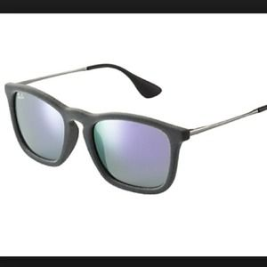 Ray Bans!!!! grey velour ray ban wayfarer.