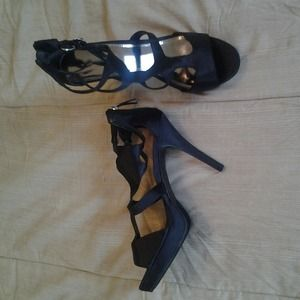 2edcc7a872c3 jcpenney Shoes - Black satin heels Sz 10