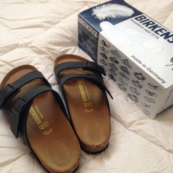 8425983a5 Black birkenstock birko-flor arizona style sandals