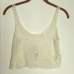 Forever 21 Creme crop top