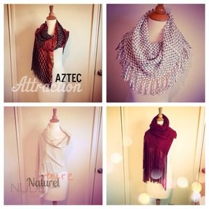 Accessories - 5 Scarf Bundle