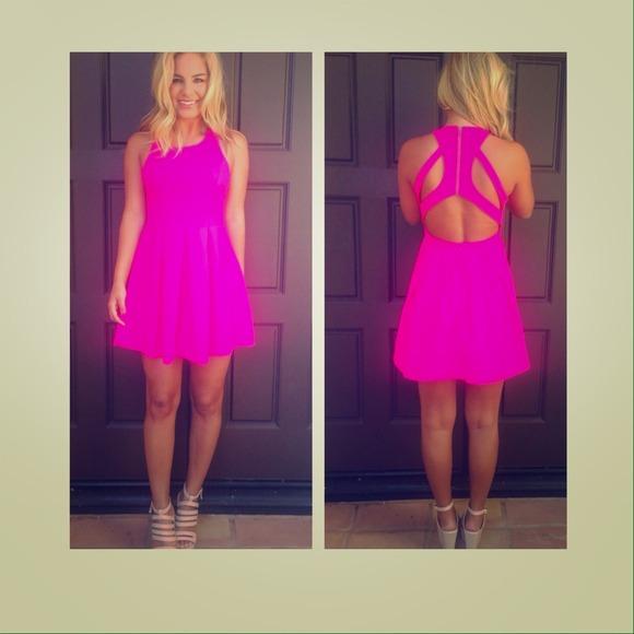 8a7742f427 Dainty Hooligan Dresses & Skirts - 🎉HOST PICK🎉 hot pink skater cutout  back dress