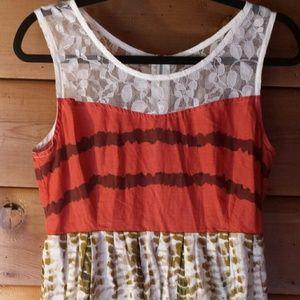 YA Boutique Dress with Lace Yoke