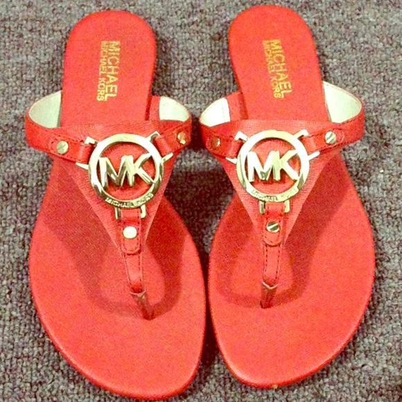 Shoes | Mk Authentic Thong Sandals Red