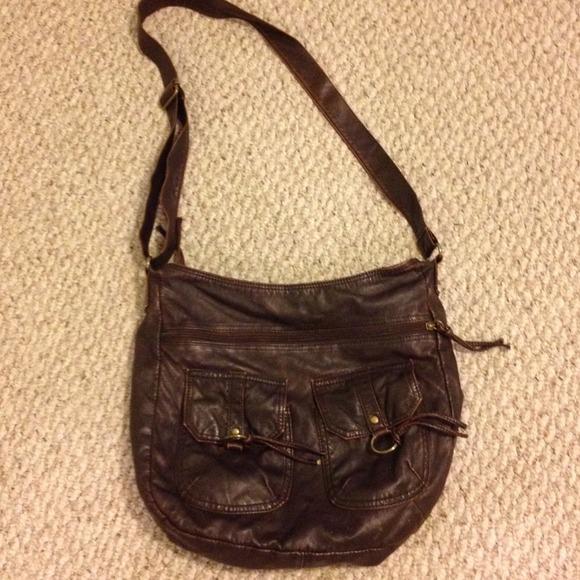 aa1232b4d9fe Icing Handbags - Tan Faux Leather Crossbody Bag
