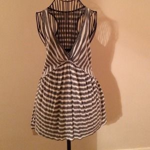 Gray & White Striped Dress