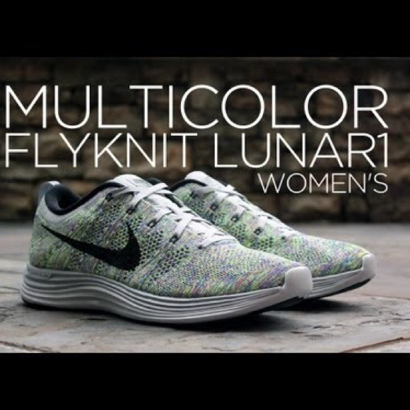 more photos eca87 69264 Nike Flyknit Lunar 1 Multicolor Women s Sneakers. M 53e4db2d94c7de0238055776