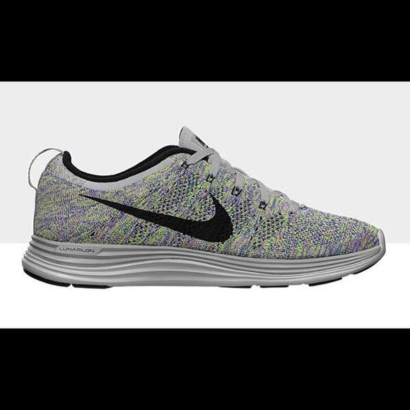 super popular d7343 7b55e Nike Shoes - Nike Flyknit Lunar 1 Multicolor Women s Sneakers