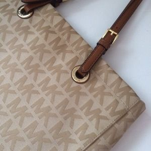 Authentic Michael Kors fabric tote