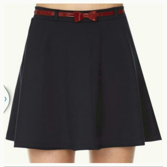 forever 21 navy blue circle skirt from s closet