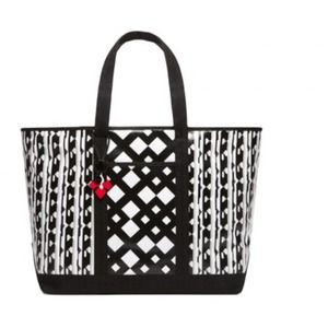 Peter Pilotto Beach Tote in Black/White Print
