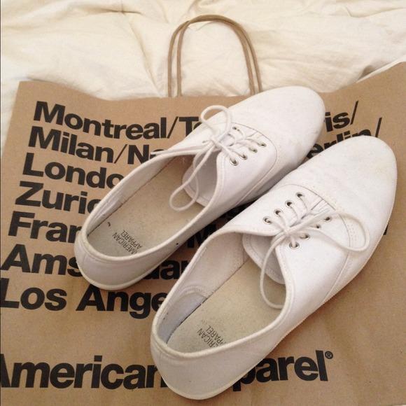 e329c6adee American Apparel Shoes - American Apparel White unisex tennis shoe