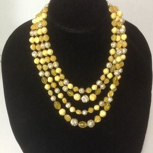 """Jewelry - ⬇️Vintage 4 Strands of """"Yellows"""" Necklace"""