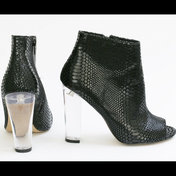 Steve Madden Majestic Bootie with lucite heel