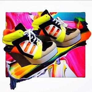 Adidas platform wedges sneakers