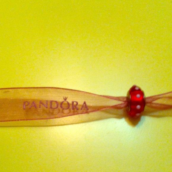 233702de4 Pandora Jewelry | Seeing Spots Red White Charm | Poshmark