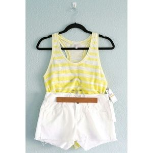 NWT Striped Racer-Back Tank + Denim Cut-Off Shorts