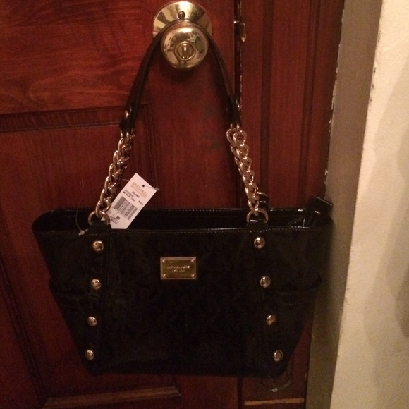 prada purple bag - 60% off Michael Kors Handbags - Authentic Black and gold Michael ...