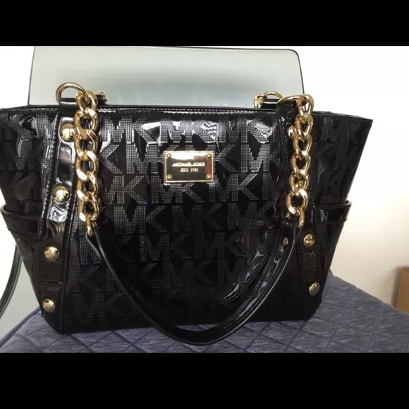 60% off Michael Kors Handbags - Authentic Black and gold Michael ...