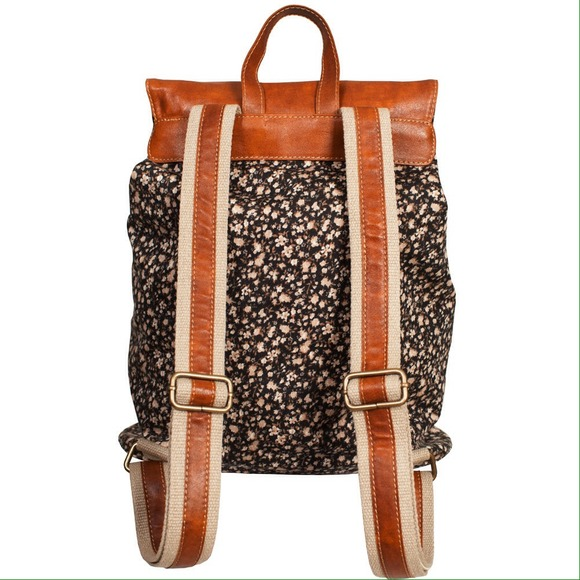Brandy Melville - Brandy floral and leather backpack from ...