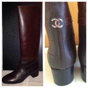 New In Box Authentic CHANEL Tall Riding Boots 39.5