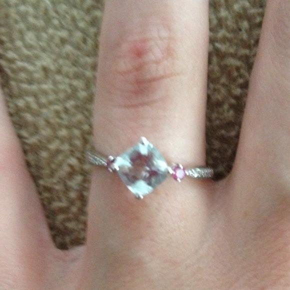 53% off Kay Jewelers Jewelry Kay Jewelers White Gold AquaMarine diamond rin