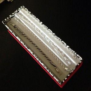Jewelry - NEW Silver Bracelet Set