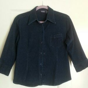 Hillard and Hanson Denim - Denim shirt  with Stretch