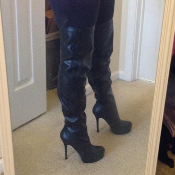 55 aldo boots aldo black thigh high platform boots