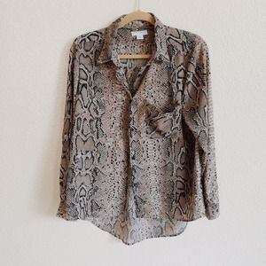 Cotton On Tops - Snakeskin Print Button Up