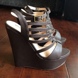 Charlotte Russe Shoes - Brown gladiator wedge sandals