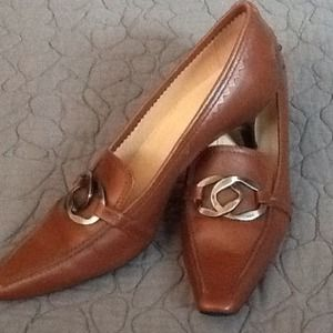 Tod's Shoes - Authentic Tod's Caramel Colored Kit Heel shoes