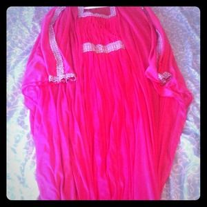 Pink Embroided Abaya ( Long dress) for sale