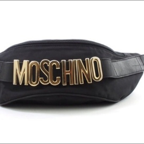f2ed8fe43 Moschino Bags   Vintage Black Fanny Pack   Poshmark
