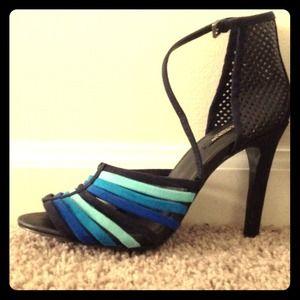 Zara Blue Ombré Heels Size 38