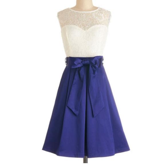 56% off Dresses u0026 Skirts - White top lace/ blue skirt dress 2XL from Meaganu0026#39;s closet on Poshmark