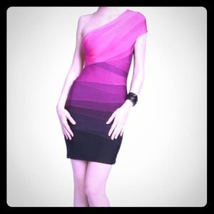 Ombré Herve Leger Dress