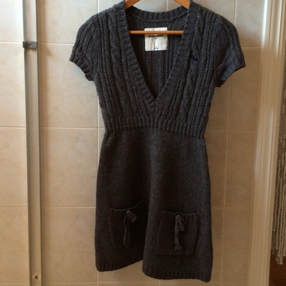 Abercrombie Grey Sweater Dress 22