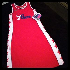 reputable site a1a74 26522 Authentic Hardwood classic NBA 76ers jersey dress NWT