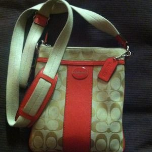 Coach purse coral satchel