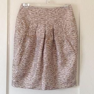 Silk Printed Tulip Skirt Banana Republic