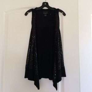 Cynthia rowley knit tank sequin thingy