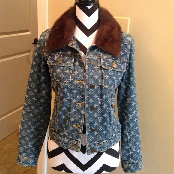 Louis Vuitton Jackets Amp Coats Denim Jacket Mink